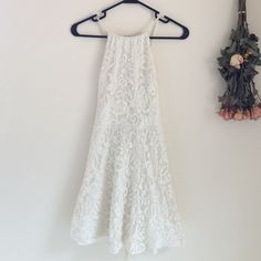 Tobi Sweet Desire Lace Dress w/ Open Strap Up Back This dress is so adorable on, and so much cuter in person! Tobi Dresses