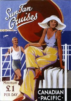 Canadian Pacific travel brochure cover, ca. 1935.