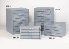 """Small Parts Stackable Drawer Units- 2 1/8"""" High Drawers"""