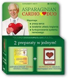 Aspartate Cardio Duo x 50 tablets, hawthorn, Iron, B vitamins, Potassium, Magnesium, inulin