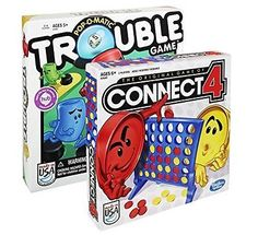 Maven Gifts: Hasbro Classic Board Game 2-Pack - Connect 4 Game with Trouble G...