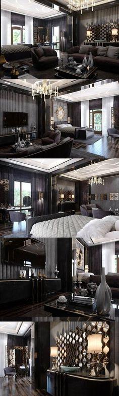 Home Design Enthusiast Exterior Design, Interior And Exterior, Architecture Design, Appartement Design, Luxurious Bedrooms, Luxury Interior, Modern Interior, Luxury Living, Home Deco