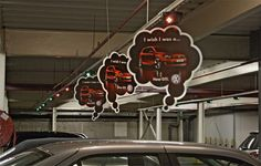 """How easy would this be to add a little """"dress up"""", fun and messaging to our old and stale parking garages?  Love it."""