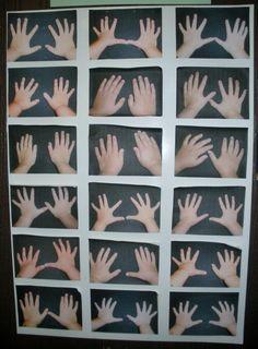 Neem foto's van de handen van je leerlingen. Op de info-avond laat je de ouders raden welke handen die van hun kind zijn.