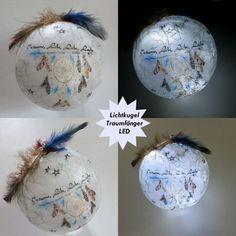Lichtkugel - mit LED -