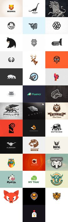 Distintos logotipos con animales
