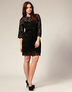 I think ASOS Curve makes the best dresses for us curvy ladies. I don't like lace but I like this one.