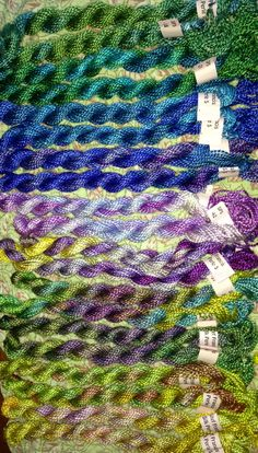 Stef Francis Spun Silk with Flames -- Terry Dryden Needlework Designs - Color Texture Stitch - Some new perle threads totry