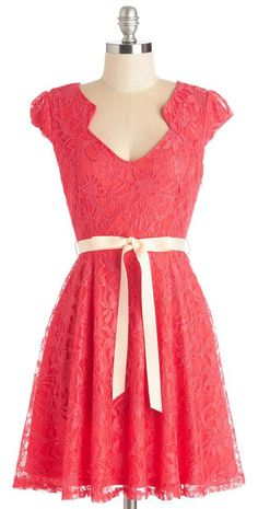 Sweet Staple Dress in Scarlet