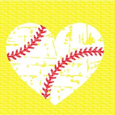 Download Baseball heart   Cricut Explore   Baseball scrapbook ...