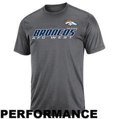 Denver Broncos Short Yardage IV Performance T-Shirt - Charcoal