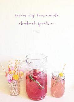 Rosemary lemonade rhubarb spritzer