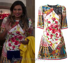 "Mindy's fan print dress from ""Confessions of a Catho-holic""!"