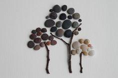 Pebble Art: Trees