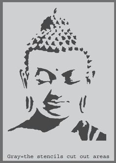 Buddah Stencil Buddhism Home Decorating stencil by IdealStencils