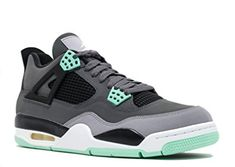 finest selection 21ce8 814ef Air Jordan 4 Retro Men s Sneakers Dark Grey Green Glow-Cement Grey-Black