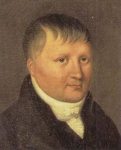 Friedrich von Schlegel (10 maart 1772 – 11 januari 1829)  Portret door Delphine de Custine, 1816