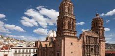 Zacatecas, Mexico - a colonial treasure declared a World Heritage Site for its architecture, its urban layout and the irregular alignment of its streets. The city of beautiful pink quarry stone encompasses magic, tradition and charm. | suggested on GLT, rural farms, pyramids, beautiful architecture, great fresh food