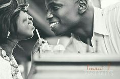 Engagement over a drink. www.ijportraits.com
