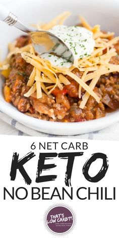 beauteous Keto Chili recipe that is whipped together in just 10 minutes and cooked all in . - Keto Chili recipe that is whipped together in just 10 minutes and cooked all in . Keto Recipes Source by DilanEasyCooking. Keto Chili Recipe, Chili Recipes, Slow Cooker Recipes, Keto Pasta Recipe, Paleo Chili, Keto Crockpot Recipes, Potato Recipes, Healthy Diet Recipes, Ketogenic Recipes