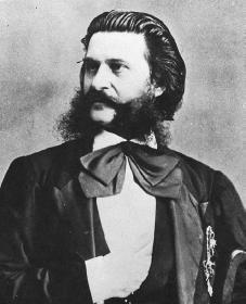 Johann Strauss. Courtesy of the Library of Congress.  Austrian Born