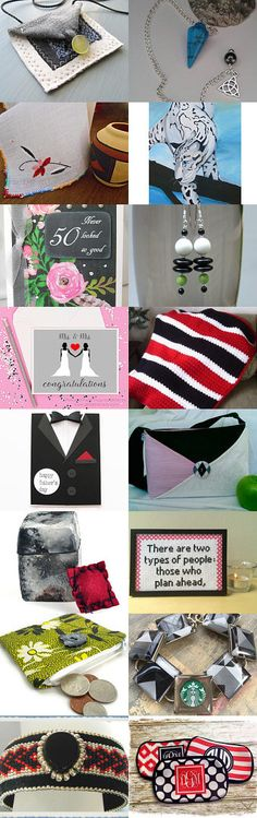 Black and White and a Pop of Color by Jeanie Allen on Etsy--Pinned with TreasuryPin.com  #Estyhandmade #giftideas #freshideas