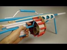 How to Make a Paper Gun that Shoots - (Machine Gun) - YouTube