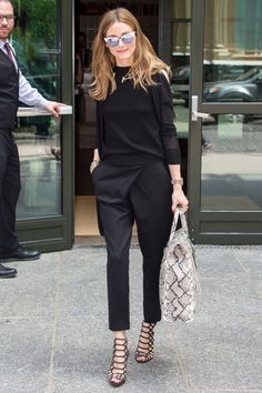 When: 6 July 2015 Wearing: Black tailored trousers and a black top