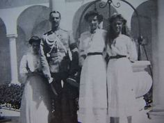 "Grand Duchesses Tatiana and Maria Nikolaevna Romanova of Russia in the Italian Courtyard at the Livadia Palace. ""AL"""