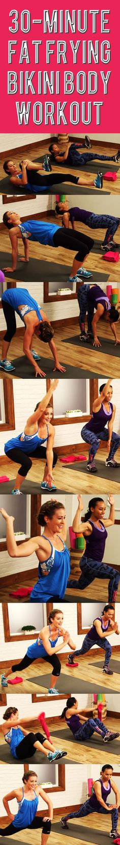 This workout was designed with SUMMER in mind —All the exercises target the trouble zones while keeping your heart rate up to burn fat. Press play and we will warm you up, work you out, and quickly cool you down.