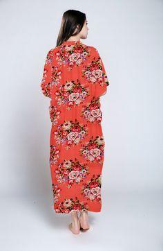 Hospital Nursing gown, Caftan, Maternity dress in Blue rose ...