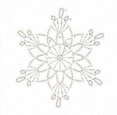 <無料編み図集>*SNOWFLAKE* 雪の結晶を編もう! | Mazourka-Iris もっと見る
