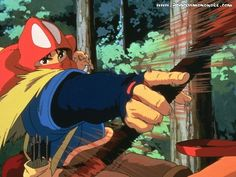 Tags: Anime, Mononoke Hime, Studio Ghibli, Prince Ashitaka, Yakult