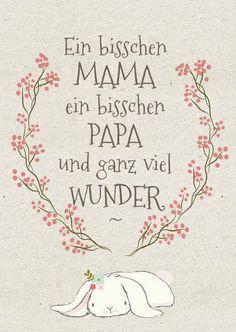 Babykarte Mama Papa