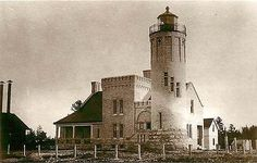 Mackinaw City Michigan MI Old Mackinac Point Lighthouse Antique Vintage Postcard