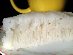 The Old Fashioned Baker: Steamed White Sugar Sponge Cake (Pak Tong Gou) - The Easy Way Out Rice Cake Recipes, Sponge Cake Recipes, Rice Cakes, Baking Recipes, Dessert Recipes, Flour Recipes, Steamed Sponge Cake Recipe, Steamed Rice Cake, Honeycomb Cake