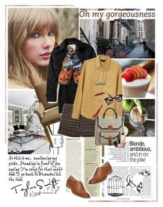 """""""Taylor Swift"""" by are-you-with-me ❤ liked on Polyvore featuring Neiman Marcus, Burberry, Balmain, Retrò, A.P.C., DANNIJO, Madewell, Head Over Heels and Isson"""
