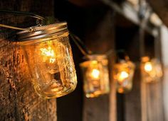 Up the lighting ante! Make over a set of plain patio light bulbs by housing them in 16-ounce mason jar lanterns. Your new outdoor lighting can be secured—and even hung—with plastic zip ties.Creating with Jessica Perez can show you how it's done. Related:  7 Ways to Transform String Lights from Holiday to Everyday