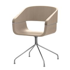 """An contemporary arm chair with geometric and ergonomic shapes. The shell consists of two parts, available in different finishes, joined together by an aluminum plate.  [share title=""""Share with Friends"""" socials=""""facebook, twitter, google, pinterest, bookmark"""" class="""""""" icon_type="""""""" ]"""
