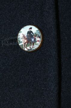 a detail of a new riding habit