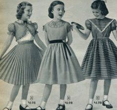 Back to school dresses in the 50's