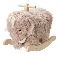 This adorable rocking 'Neo' Mammoth by Kids Concept is a beautiful and unique addition to any nursery or kids room. Ever popular, soft and fluffy, a beautiful rocking horse for a play room or nursery Kids Ride On Toys, Kids Toys, Wooden Ride On Toys, Flamingo, Pull Along Toys, Imaginative Play, Wow Products, Wooden Handles, Little Ones