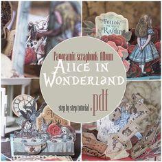 Photo Album Scrapbooking, Scrapbook Journal, Scrapbook Albums, Scrapbook Paper, Journal Notebook, Scrapbooking Ideas, Alice In Wonderland Original, Alice In Wonderland Book, Rabbit Book