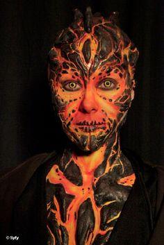 Face-Off Immortal Enemies Make-up Face Off Makeup, Makeup Fx, Movie Makeup, Scary Makeup, Fire Makeup, Queen Makeup, Awesome Makeup, Makeup Geek, Makeup Ideas