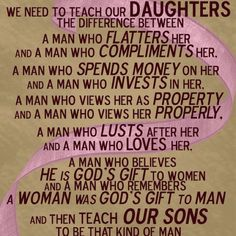 Teaching today's & the future Daughters...