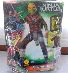 Rubie's Nicelodeon Teenage Mutant Ninja Turtles Michel Angelo Small 4-6 Costume #Rubies #CompleteOutfit