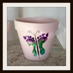"""Butterfly Pot"" - mothers day idea"