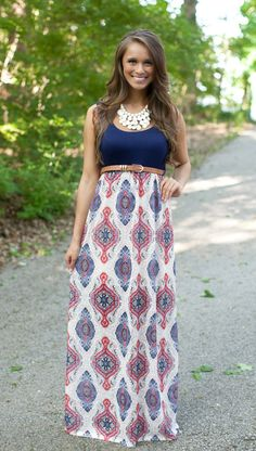 The Pink Lily Boutique - Lost In The Moment Maxi, $39.00 (http://thepinklilyboutique.com/lost-in-the-moment-maxi/)