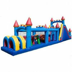 Castle Inflatable Obstacle Course by Magic Jump - Bounce Houses Now