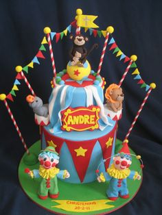 Blissfully Sweet: A Circus Christening Cake